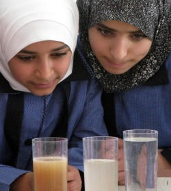 """""""Today's pupils change tomorrow's world"""": Between 2009 and 2014, the """"Water Fun"""" educational series reached just under 5,000 primary school students in Jordan and the Palestinian Territories. Photo: UFZ"""