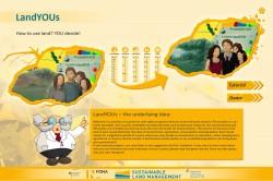 Um Kindern und Jugendlichen das Thema Landnutzung nahe zu bringen, wurde das Computerspiel LandYOUs entwickelt. Foto: