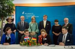 Willem-Alexander und Máxima im Leipziger Wissenschaftspark. Foto: UFZ / Sebastian Wiedling