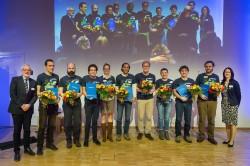 Die Preisträger des UFZ-Forschungspreises 2017 Foto: Klaus-Dieter Sonntag
