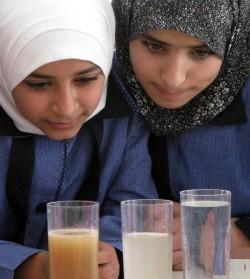 """""""Schüler von heute verändern die Welt von morgen"""": Die Unterrichtsreihe """"Water Fun"""" erreichte zwischen 2009 und 2014 knapp 5.000 Grundschüler in Jordanien und den Palästinensischen Gebieten. Foto: UFZ"""