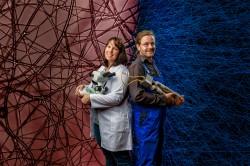 Die Preisträger: Dr. Anja Worrich und Dr. Martin Schrön Foto: André Künzelmann, UFZ