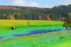 Erfassung der Bodenfeuchte mit mobilen Neutronensonden Foto: Martin Schrön, UFZ