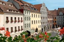 Am Untermarkt 20 in Görlitz (1. Gebäude v.l.) findet CASUS sein Domizil. Foto: Sabine Wenzel / Europastadt GörlitzZgorzelec GmbH