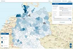 Benutzeroberfläche Web-GIS-Anwendung Foto: UFZ