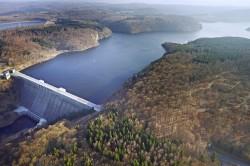 Die Rappbodetalsperre im Harz ist die gr��te Trinkwassertalsperre Deutschlands Foto: Andr� K�nzelmann / UFZ