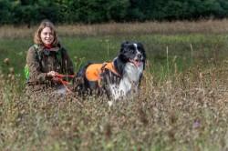 Annegret Grimm-Seyfarth mit Artenspürhund