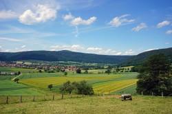 Strukturreiche Landschaft bei Hemeln/Niedersachsen