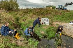 Zwei Jahre lang haben Forscher:innen die Pestizidbelastung an Bächen in Agrarlandschaften untersucht.