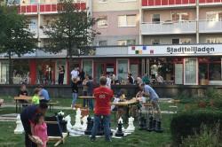 Der Stadtteilladen ist ein Ort der Begegnung. Hier k�nnen sich die Bewohner:innen auch �ber die Entwicklung und die Aktivit�ten im Wohngebiet informieren. Foto: Sigrun Kabisch